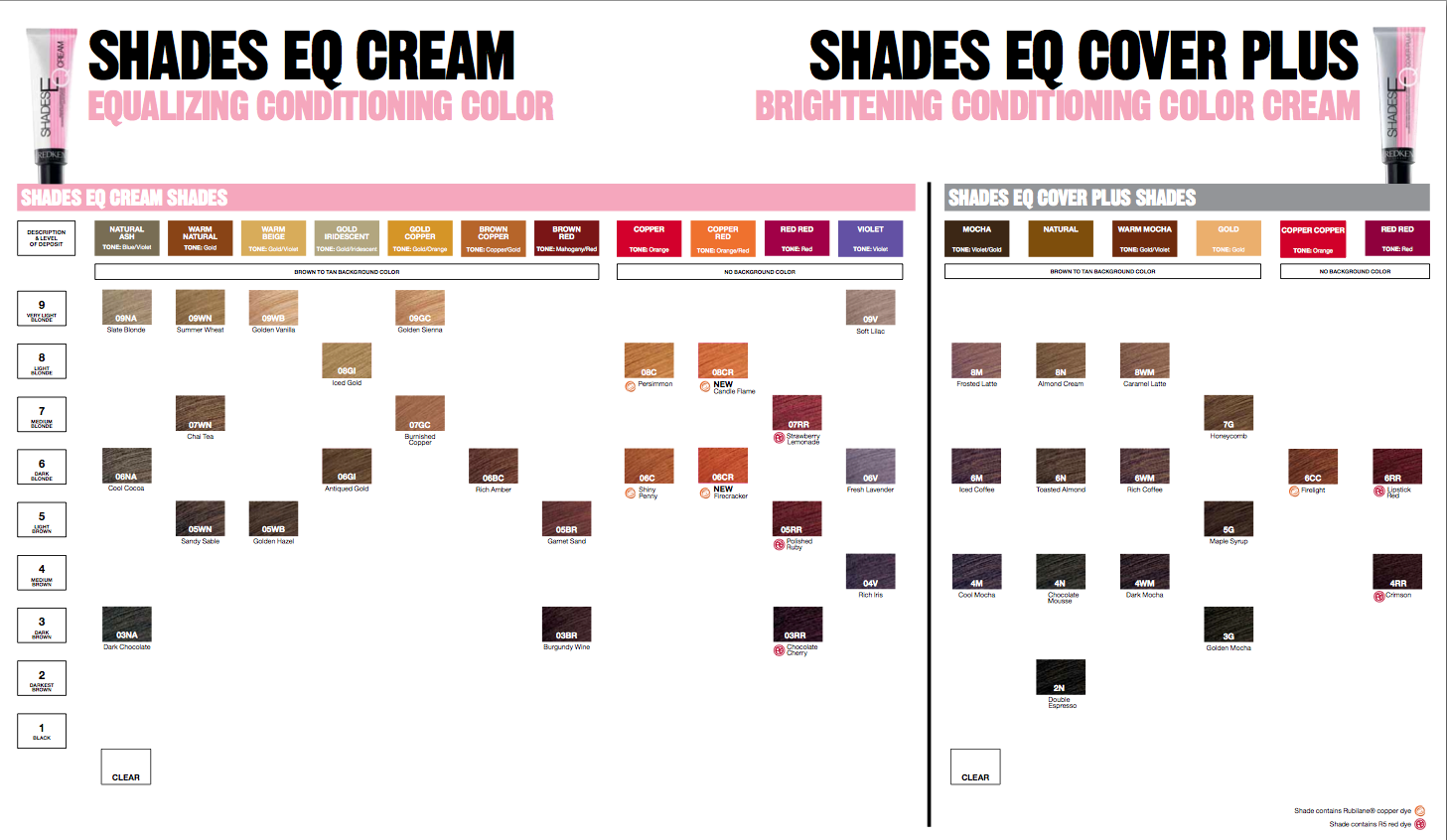 Redken Shades Eq Cream Color Chart Pictures To Pin On